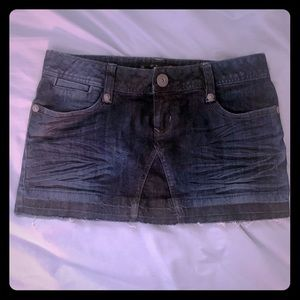Jean skirt by Guess, waist size 28. Gently used.